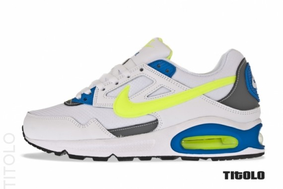 82edb09c The White/Volt-Blue Skyline has already been released in Europe, and should  arrive in the States this summer. NIKE AIR MAX ...