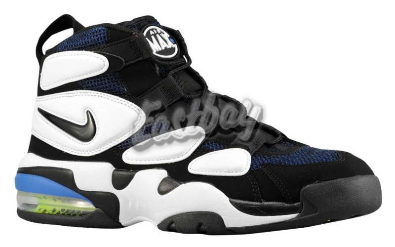 separation shoes 4ed9b fb54e NIKE AIR MAX 2 II UPTEMPO QS 919831-001 BLACK PACK BLACK WHITE DS SIZE 11.5