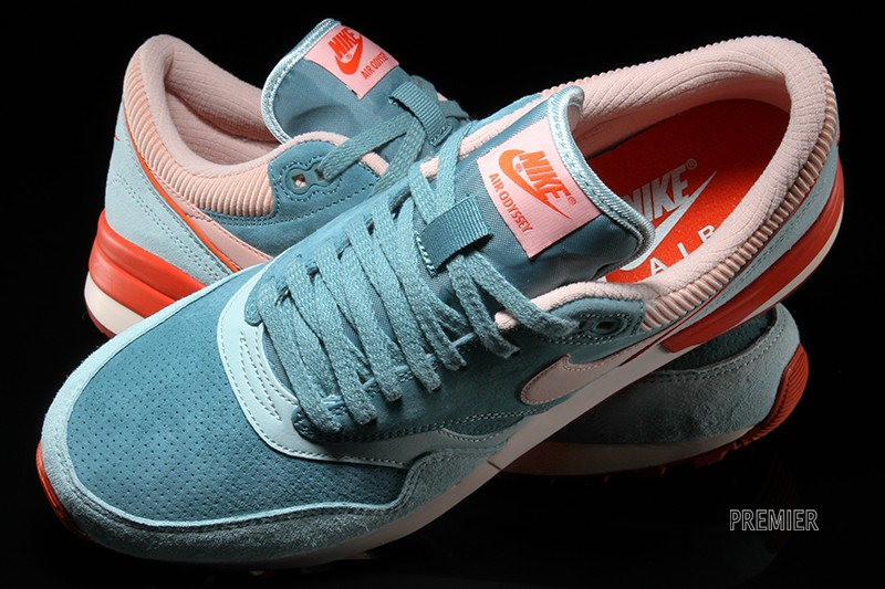 88b608662a9a Nike Air Odyssey LTR Color  Green Haze Blue Sage-University Orange-Arctic  Orange Style  684773-302. Price   115.00. Be Sociable