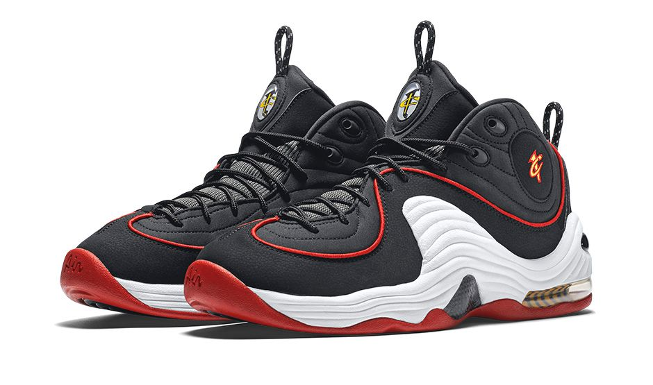 3106a8b8ddb1 Nike Air Penny II - Black   University Red-White - Air 23 - Air ...