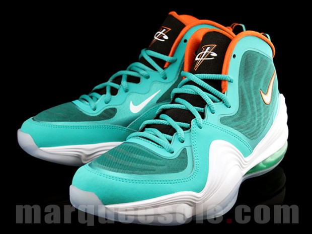 brand new bcffc 51ad1 Nike Air Penny V (5) Color  New Green White-Safety Orange Style   537331-300. Release  11 21 2012. Price   165.00