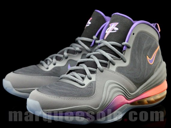 new style df147 b53f2 Nike Air Penny V (5) Color  Dark Grey Black-Rave Pink-Court Purple Style   537331-070. Release  12    2012