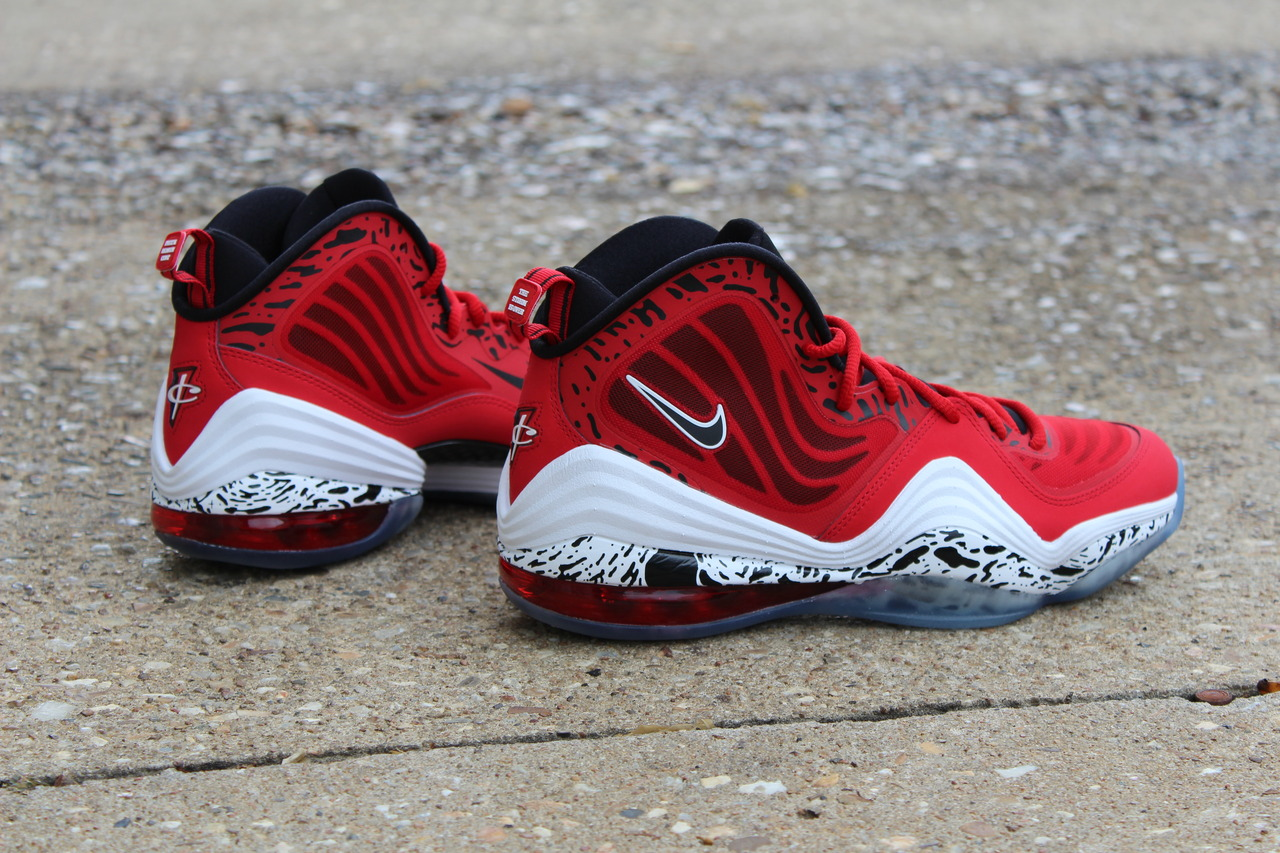"online retailer a8e29 9b70b Men s Nike Air Penny V ""Lil Penny"" 5 Sneakers Sz 9 Atomic Red 628570-601"