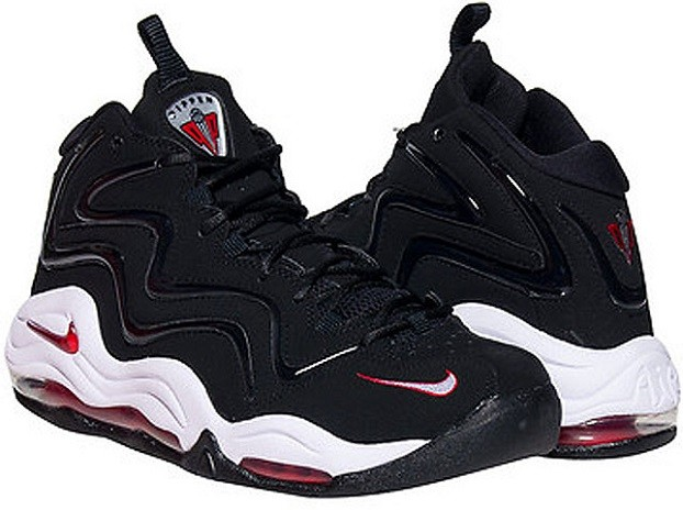 a26e3d3733e69 Nike Air Pippen 1. Color: Black/Varsity Red-White Style: 325001-061.  Release Date: Available Now Price: $165.00