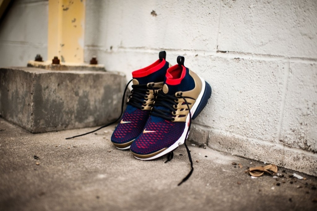 best sneakers 55bdb 13bf8 Nike Air Presto Ultra Flyknit Olympic Color College NavyComet  Red-Metallic Gold Style 835570-406. Price 160.00