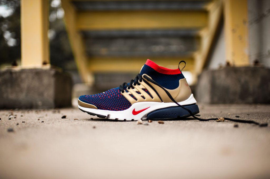 designer fashion 2f4ef a7585 Nike Air Presto Ultra Flyknit Olympic Color  College Navy Comet Red-Metallic  Gold Style  835570-406. Price   160.00