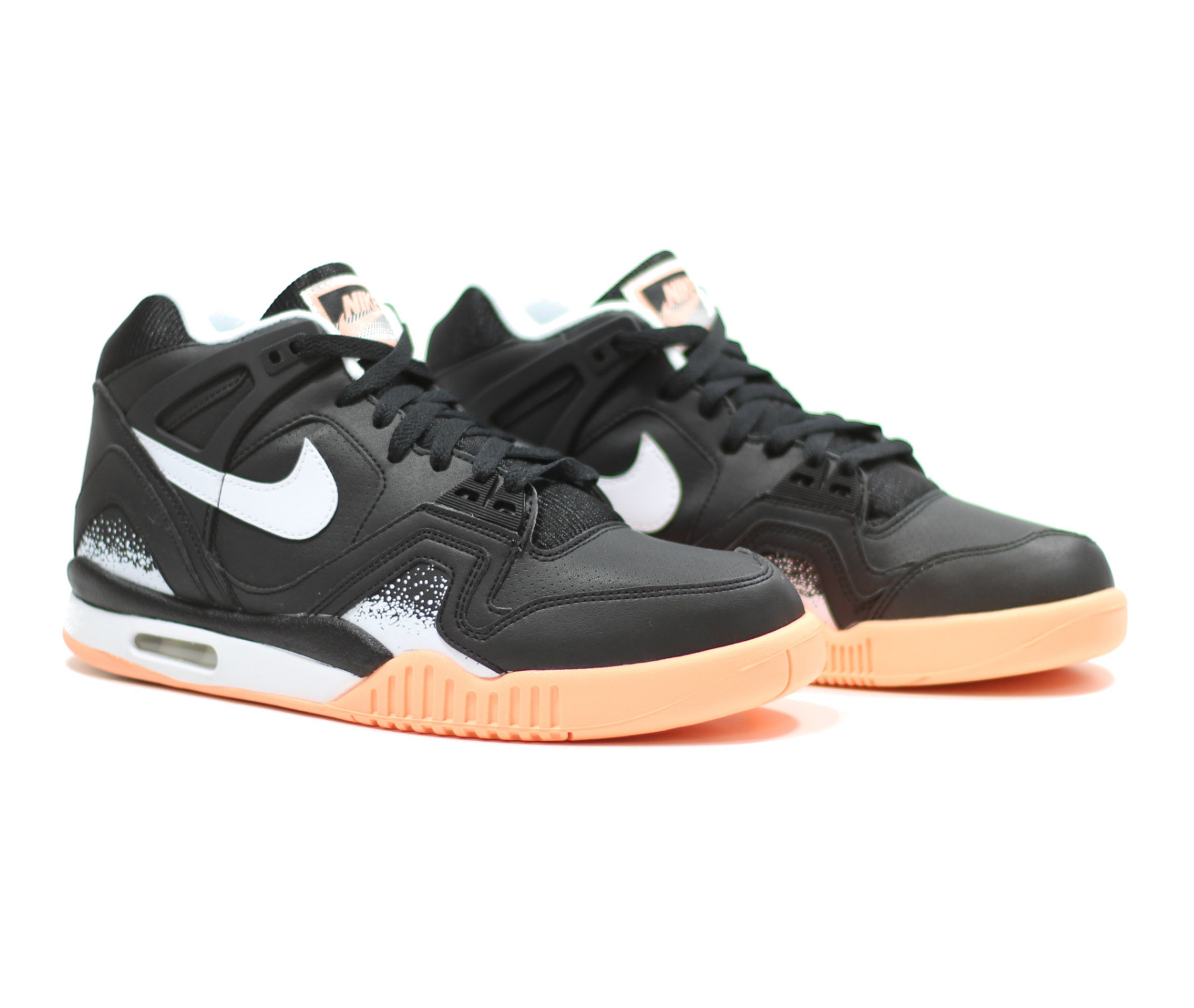 new styles d8d71 afcbc Nike Air Tech Challenge II Color BlackWhite-Sunset Glow Style 318408-002
