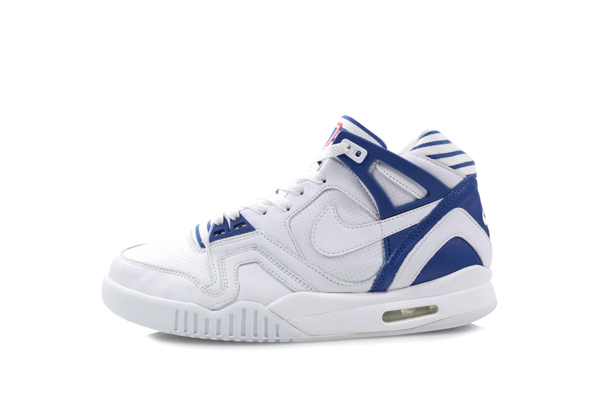 A Bright Crimson tongue logo does the rest  You can get these now at Hanon  Nike  Air Tech Challenge II Color  White WhiteGym BlueBright Crimson