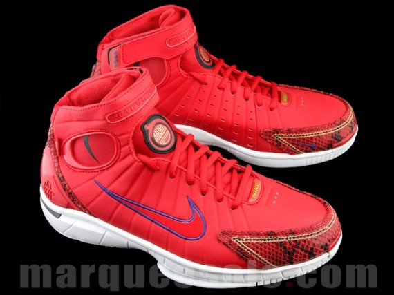 "97455292f3024 The Nike Air Zoom Huarache 2K4 ""Year of the Snake"" has been covered in a  bright red"