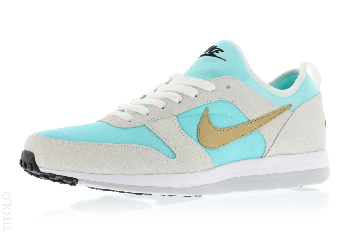 newest 9b53c f8e27 There s no word on a U.S. release, but the the Light Aqua Metallic Gold-Summit  White Nike Archive is available now at the overseas-based Titolo.
