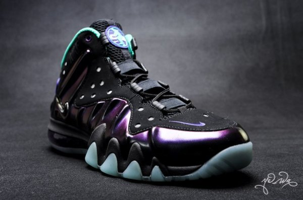 "best service 0a4fd 9a646 Nike Barkley Posite Max Color  Black Black (""Eggplant"") Style  555097-003.  Release  03 23 13. Price   235.00"
