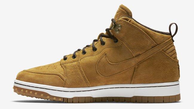 nike dunk cmft sneakerboot wheat
