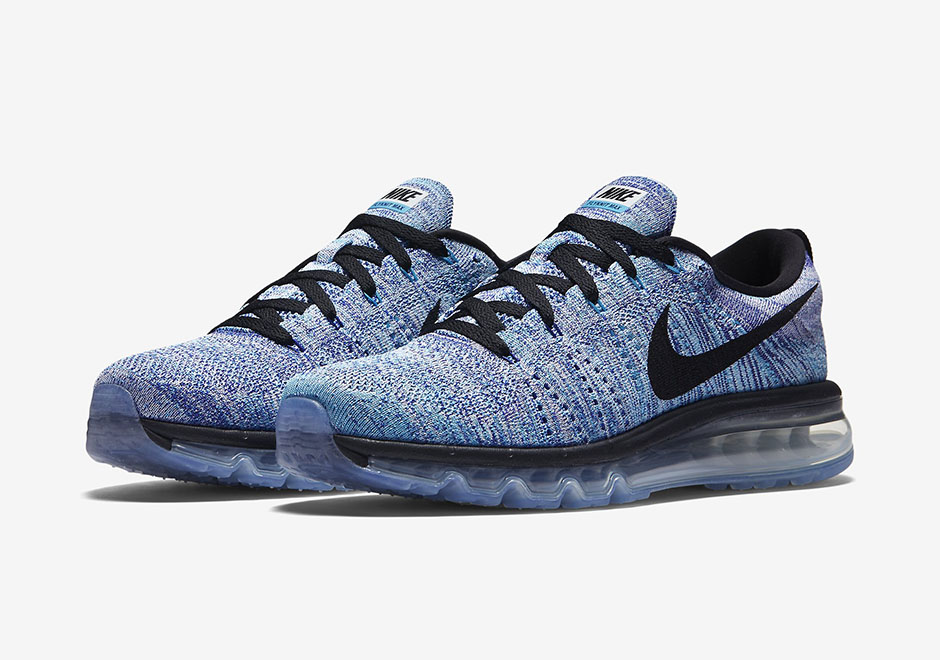 nike air max flyknit all blue