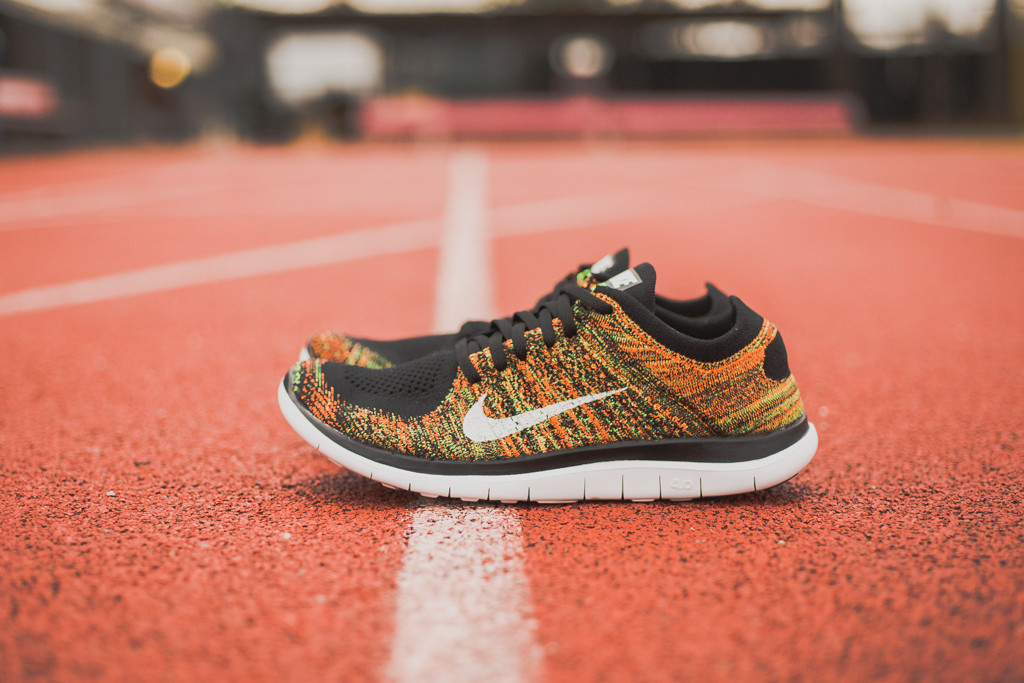 reputable site 2ae86 04d39 Nike Free 4.0 Flyknit - Poison Green/Total Orange - Air 23 ...