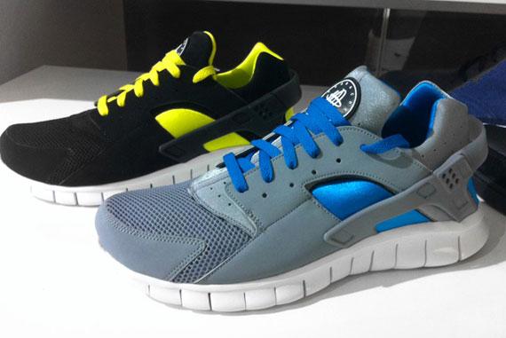 reputable site c684a c8416 Nike Huarache free run + Plus 2012 Size 9.5 teal and grey Carolina panthers  VNDS