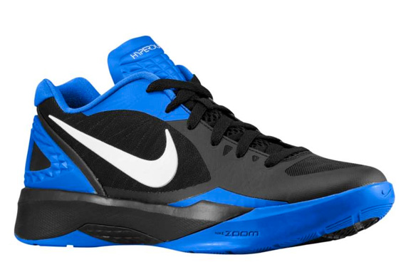 73eed53e0f63 Nike Zoom Hyperdunk 2011 Low Color  Black Treasure Blue-White Style   487638-003. Price   99.99
