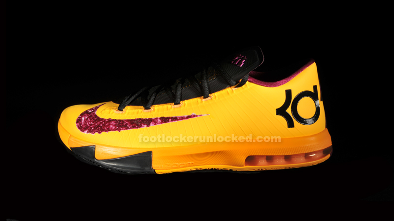 ae91a85593c5 Nike KD VI (6) Color  Laser Orange Raspberry Red Black-Gold Style   599424-801. Release  10 19 2013. Price   130.00