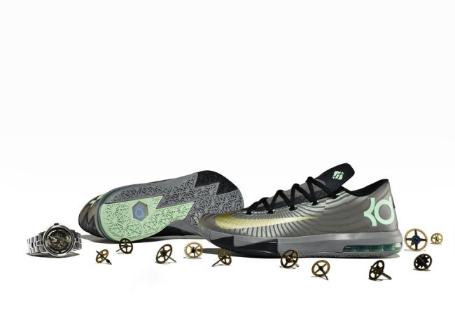 buy online 0e6d4 f6952 Nike KD VI (6) Color  Metallic Pewter Metallic Gold Star-Black-Arctic Green  Style  599424-003 12 07 2013. Style   130.00