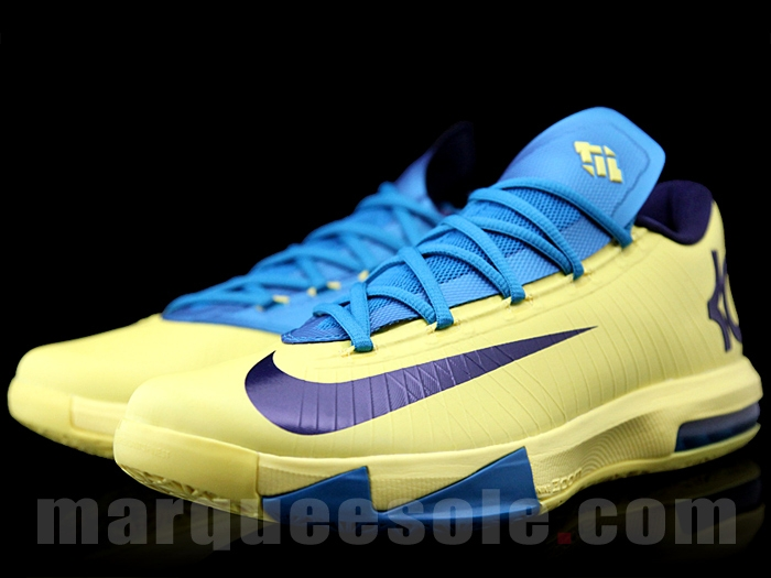big sale 1c63c 5eeef Nike KD VI (6) Yellow Blue-Purple – Better Images