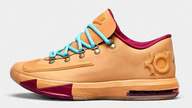 e8f556fff58 Nike KD VI (6) EXT Gum QS Color  Gum Light Brown Raspberry Red-Gum Light  Brown Style  639046-900. Release  12 07 2013. Price   130.00