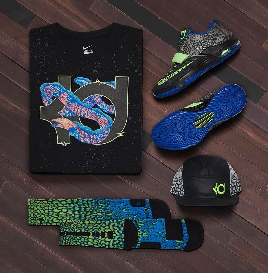 """Nike KD 7 """"Electric Eel"""" Official Images, Release Date - Air 23 - Air  Jordan Release Dates, Foamposite, Air Max, and More"""