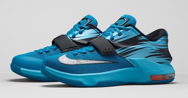 finest selection 1de66 90aa4 The Light Blue Lacquer Clearwater Total Orange White Nike KD 7 releases  this Thursday, January 15 priced at  150.