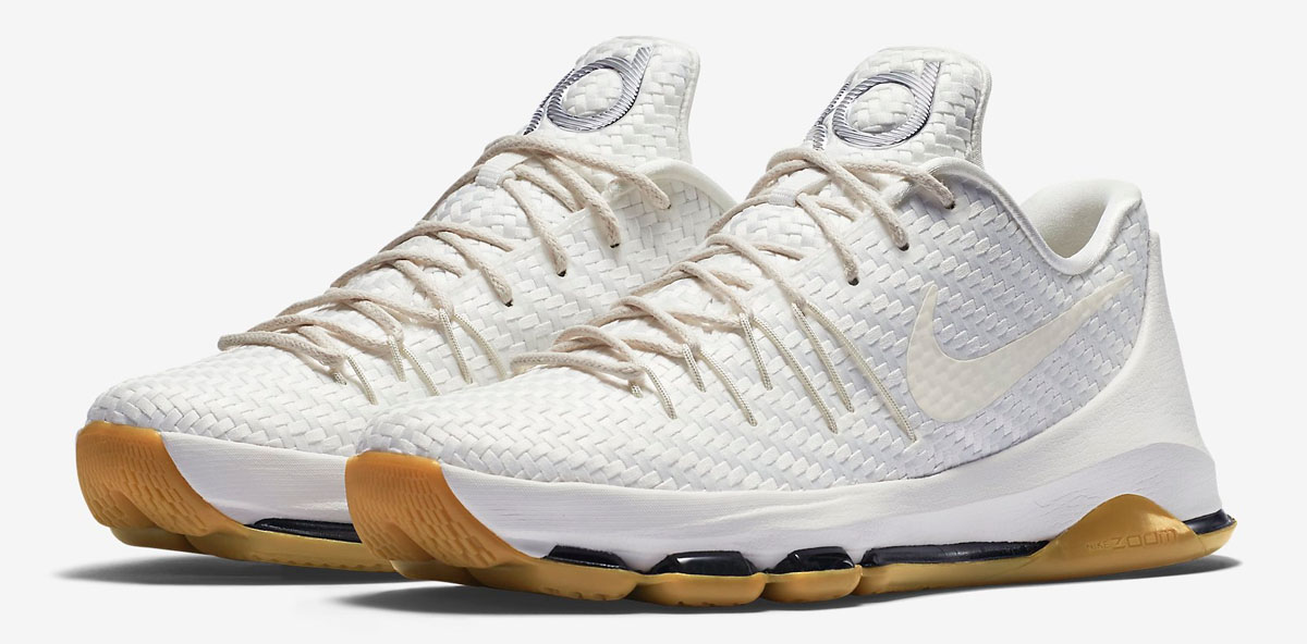 new style 2a934 4fd88 nike kd 8 ext white woven