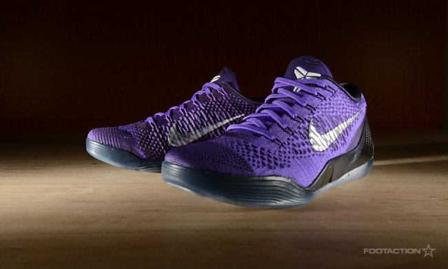 timeless design 41c5c 80436 Covered in a deep purple with white accents and a black and clear sole,  this pair is one of the hottest Kobe 9 colorways we've seen yet.