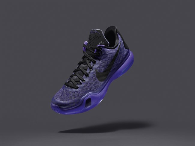 "more photos e2635 073a3 A black tongue, a matching accents have been applied as well, all mated to  a translucent purple sole. The Nike Kobe 10  Blackout"" releases on February  21, ..."