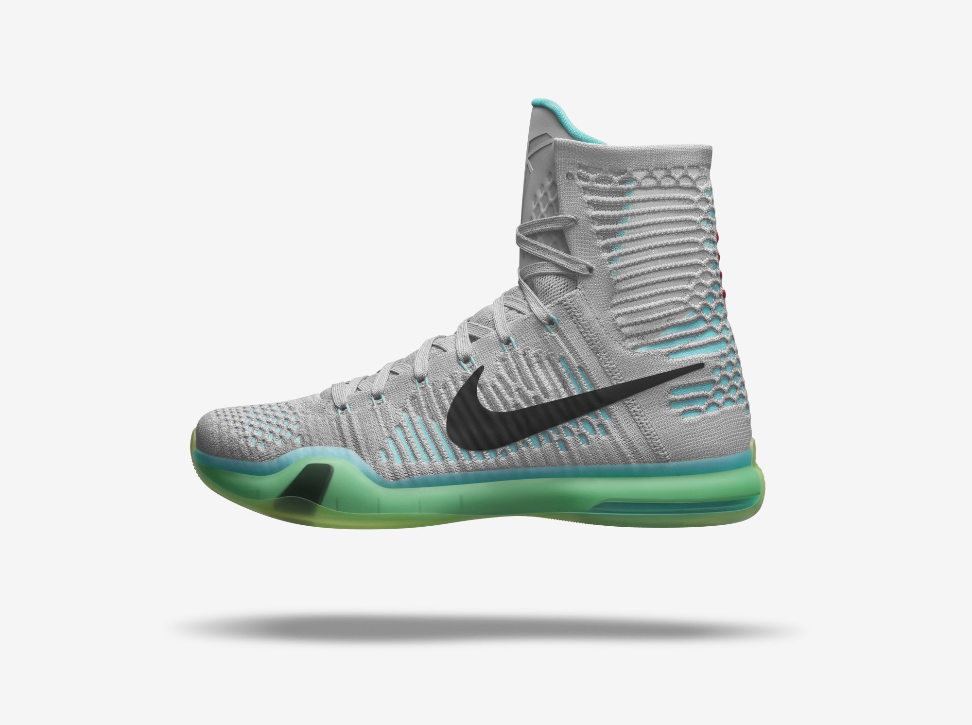"newest a93ad ea2e7 A black swoosh stands out among the light colors, while an aquamarine sole  provides the cushioning. The Nike Kobe X Elite ""Elevate"" will hit stores on  May ..."