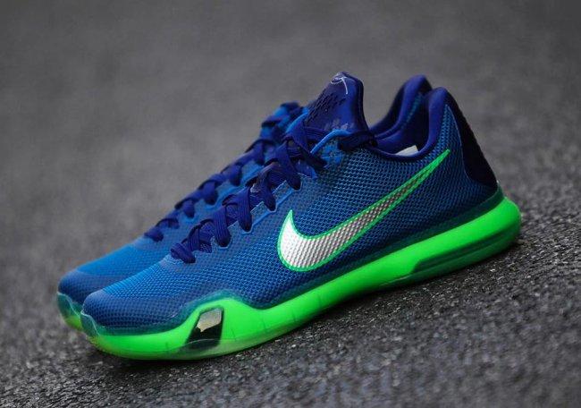 new styles cbb5c fa92b Nike Kobe 10 (X) Color  Soar Deep Royal Blue-Green Shock Style  705317-402.  Price   180.00