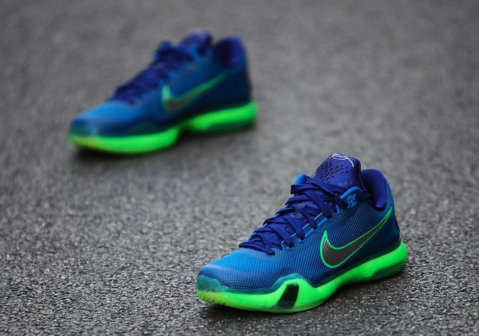 Nike Kobe X Soar/Deep Royal Blue/Green Shock