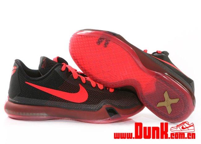 new arrival 4846a 1bb55 Nike Kobe X (10) GS Color  Black Bright Crimson-Anthracite Style  726067-060