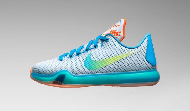 brand new 40412 afbab Nike Kobe 10 (x) GS Color  White Blue Lagoon-Total Orange-Key Lime Style   726067-100. Release  05 13 2015. Price   135.00
