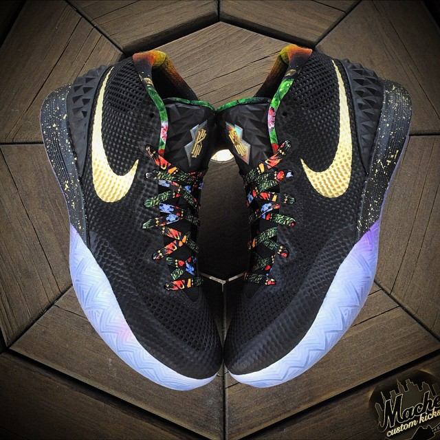 "newest collection 10590 9225c Nike Kyrie 1 ""Watch the Throne"" Customs by Mache"
