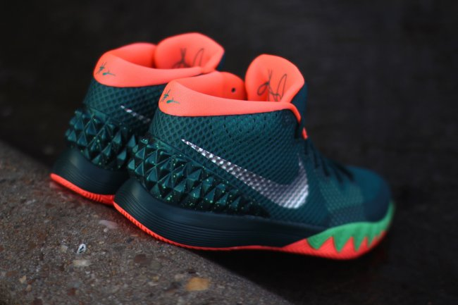 sports shoes 74b3d dde56 Nike Kyrie 1. Color  Dark Emerald Metallic Silver-Emerald Green-Bright Mango -Light Poison Green Style  705277-313. Release  02 27 2015. Price   110.00