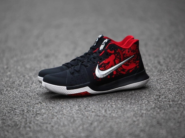 490f7deca60 Nike Kyrie Irving 3 III Samurai 852395 900 Navy Blue Red White Christmas  Mystery