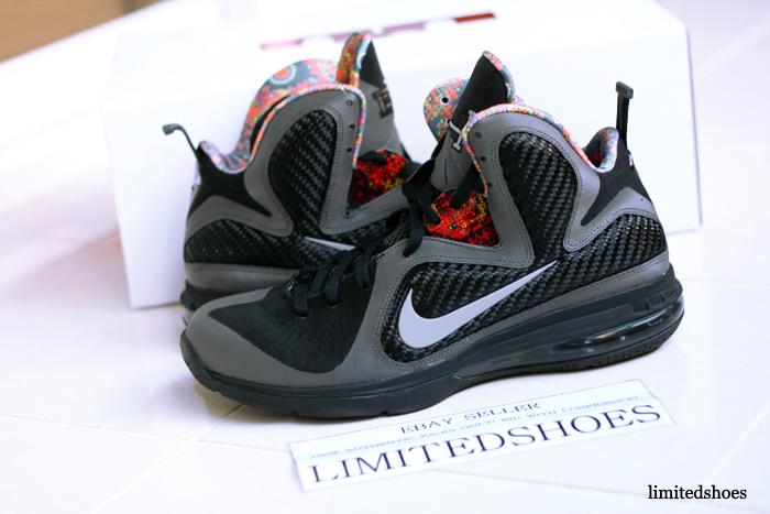 watch 3378e ef2d2 Nike LeBron 9 (IX) Color  Midnight Fog Black Style  530962-001. Release   02 11 2012. Price   170.00