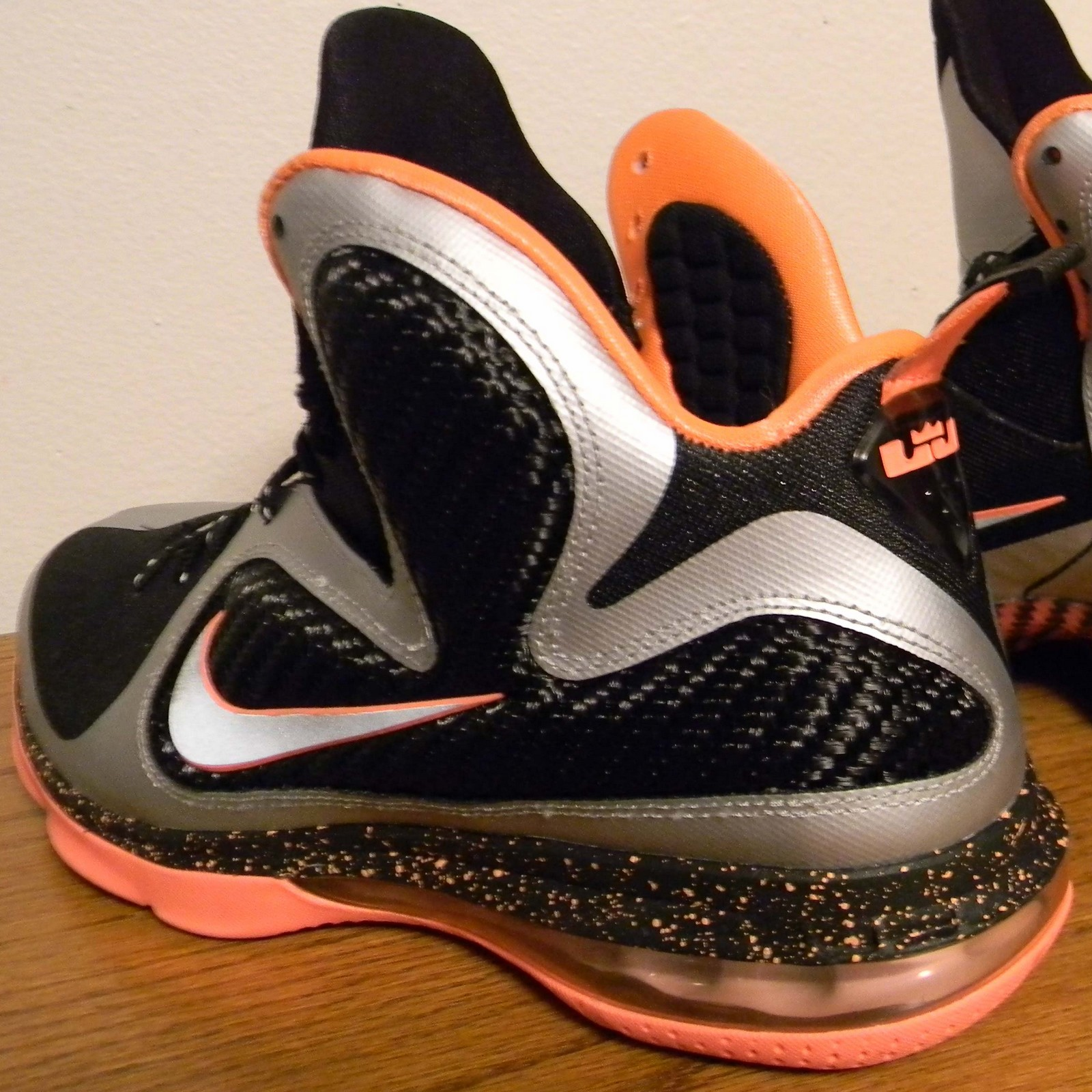 best service 179e3 0d707 Nike LeBron 9. Color  Black Metallic Silver-Bright Mango Style  469764-005.  Release  03 02 12. Price   170.00