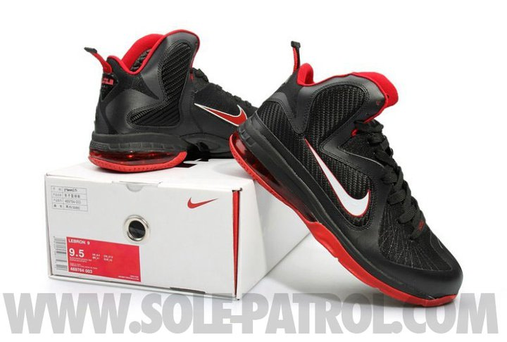 best sneakers 8c917 58a4d Nike LeBron IX Black Red New Pics and Packaging Shots