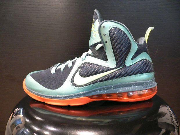 "new product f927f 4b4b6 Nike LeBron 9 ""Cannon"" Color  Cannon Volt-Slate Blue-Team Orange Style   469764-004. Release  11 11 2011"