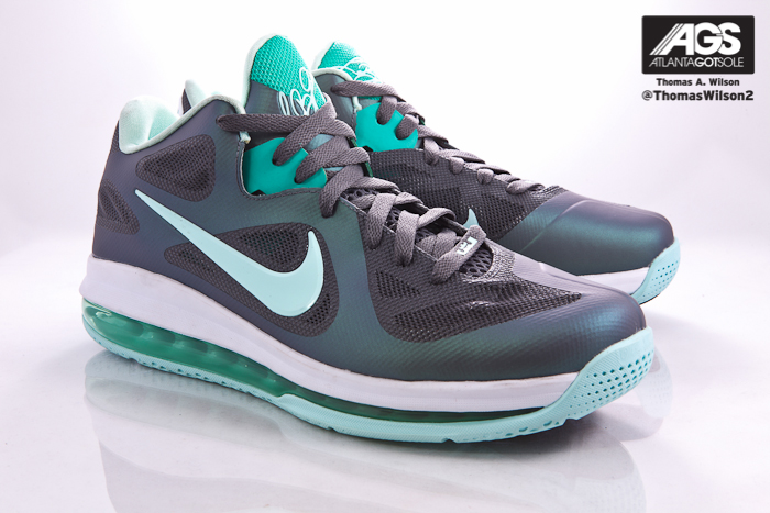 newest 8f7b4 9ff1d Nike LeBron 9 Low Color  Dark Grey Mint Candy-Cool Grey-Neon Green Style   510811-001. Release  04 06 2012. Price   150.00