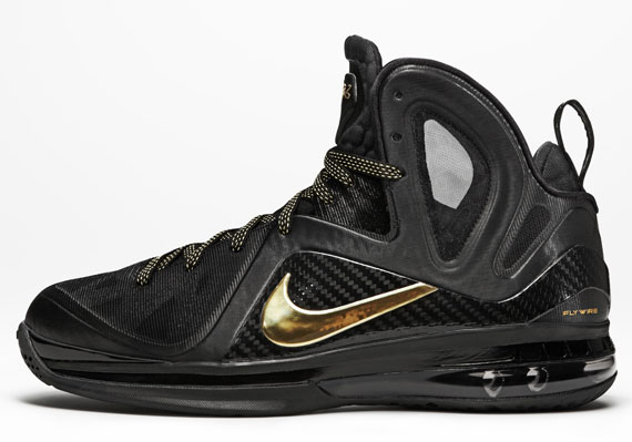 best service 9cdcb 458e2 Nike LeBron 9 P.S. Elite Color  Black Metallic Gold-Black Style   516956-008. Release  04 28 12. Price   250