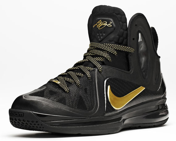 Nike LeBron 9 Elite \u0026quot;Away\u0026quot; Black/Metallic Gold-Black