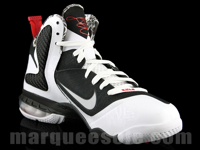 best cheap 7f976 7b3f1 Nike Lebron IX White Black Sport Red size 11 Lebron 9 Freegums DS Free Gums