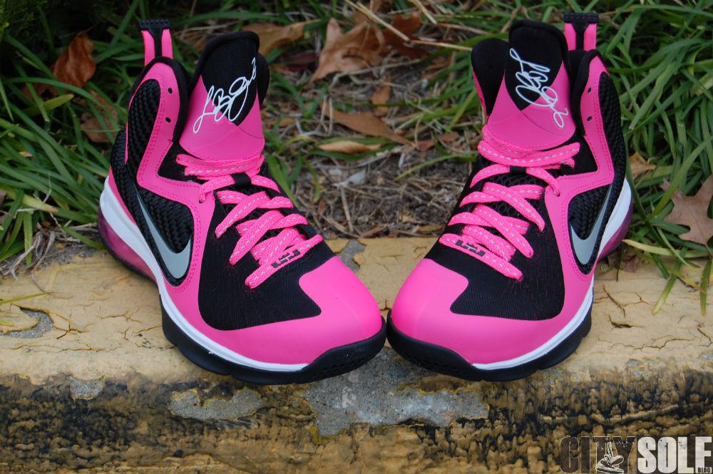 0ed819445fc99 Nike LeBron 9. Color  Laser Pink Metallic Silver–Black Style  472664-600.  Price   120.00