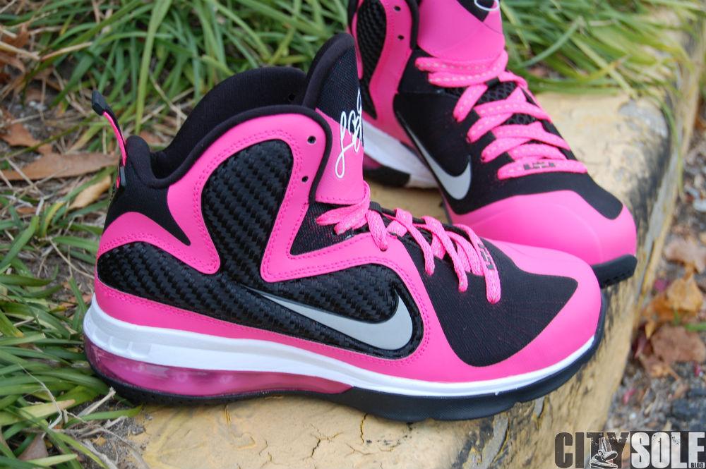 b4fd54460cc85 Nike LeBron 9. Color  Laser Pink Metallic Silver–Black Style  472664-600.  Price   120.00