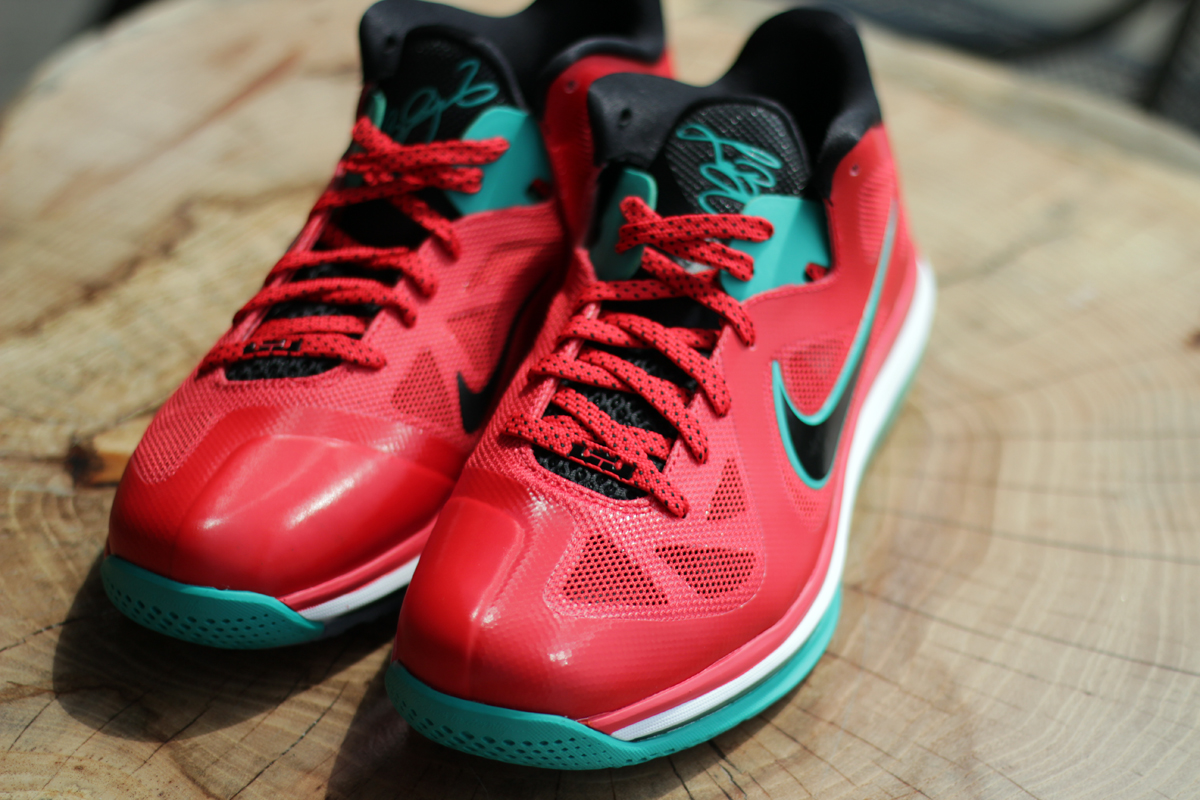 "watch 1ed19 190ad Nike LeBron 9 Low ""Liverpool Color  Action Red Black-White-New Green Style   510811-601. Release  09 01 2012. Price   150.00"