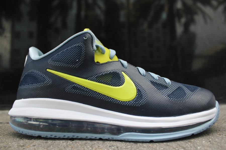 finest selection cfb01 60b7d Nike LeBron 9 Low Color  Obsidian Cyber–White–Blue Grey Style        -     Price   150.00