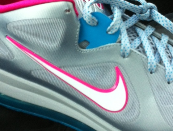 best service 16ff6 9b567 Nike Lebron IX 9 Low Grey Mint Candy-Cool Grey-Green Easter 510811-001 Size  10